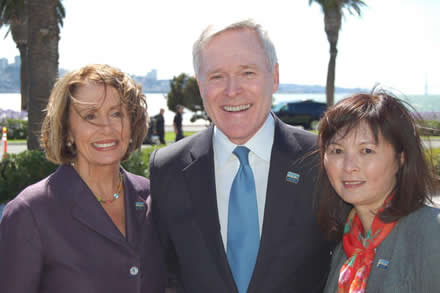 Treasure Island, Secretary of the Navy Ray Mabus, joined by Speaker Nancy Pelosi and Claudine Cheng